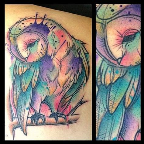 splash of color tattoo 17 best patterns images on owl tattoos