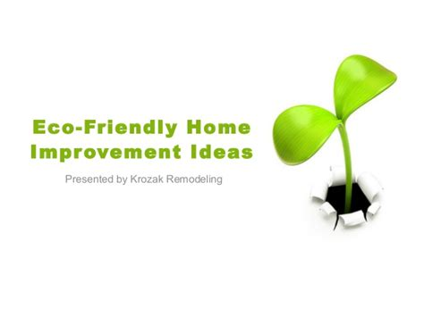 eco friendly home improvement ideas