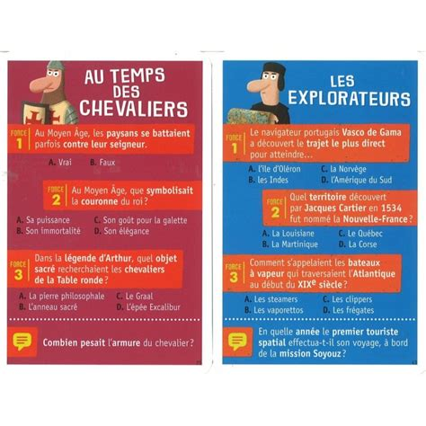 Asmodee Carte Question Reponse by Questions R 233 Ponses Histoire Jeu De Cartes 233 Ducatif Nathan