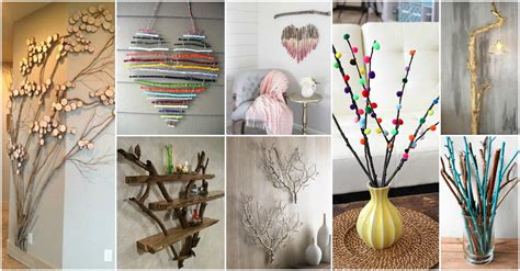 home made decor diy tree branches home decor ideas that you will to copy