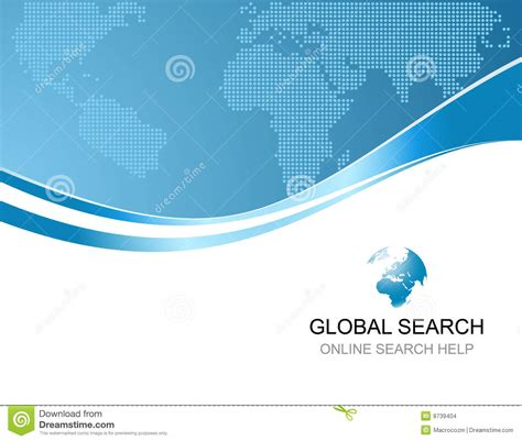 Search Backgrounds Corporate Background With Logo Of Global Search Stock Vector Illustration 8739404
