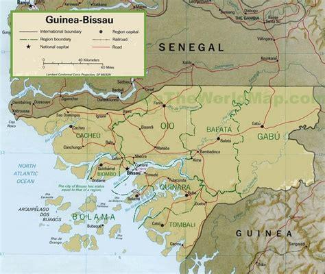 guinea bissau political map guinea bissau political map
