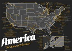 at home america a map of television show locations in america