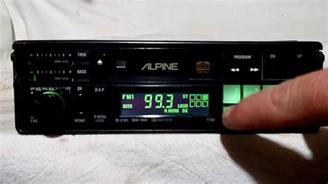cassette car stereo vintage alpine 7280 am fm cassette car stereo