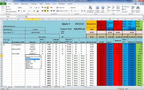 Construction Estimate Spreadsheet by Estimating Spreadsheet Template Spreadsheet Templates For Busines Construction Estimating Excel