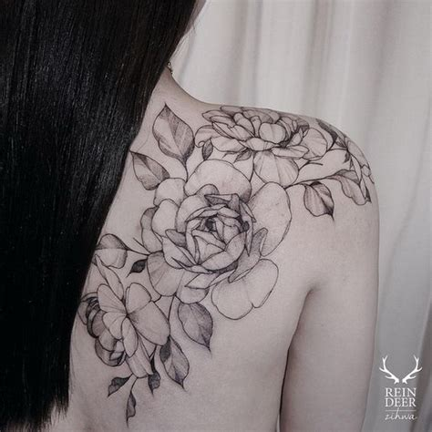 small flower tattoos on back shoulder 30 beautiful flower designs listing more