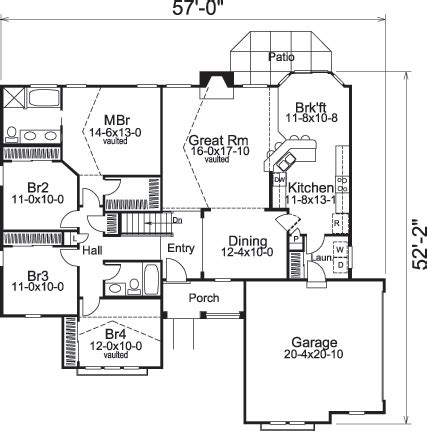house plan 1761 square feet 57 ft house plan 1761 square 57 ft 28 images ranch style