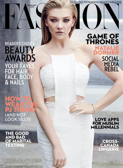 To Be A Magazine Cover Model by Fashion Magazine February 2016 Cover Natalie Dormer