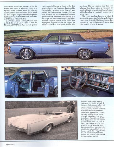 Lincoln Continental Mark Iii Collectible Automobile