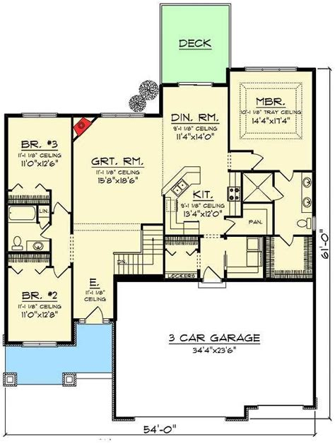 craftsman ranch ideas  pinterest house plans house plans  story  ranch house