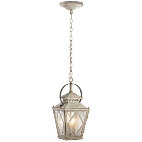 lantern pendant hayman bay two light distressed antique white interior