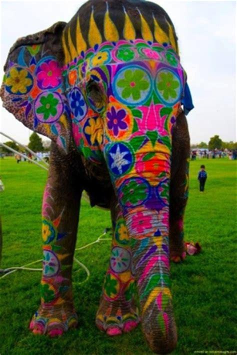 artswirled: painted elephants