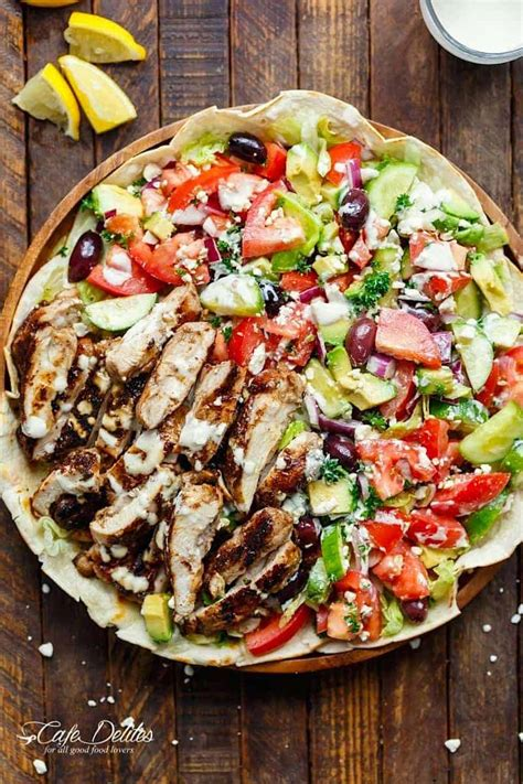 chicken shawarma salad cafe delites