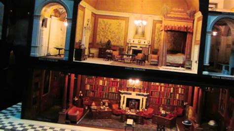 dolls house windsor queen mary s doll house at windsor palace youtube