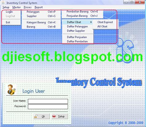 Source Code Inventory Persediaan Penjualan Visual Basic 60 contoh program vb6 inventory system persediaan barang obat obatan dasar