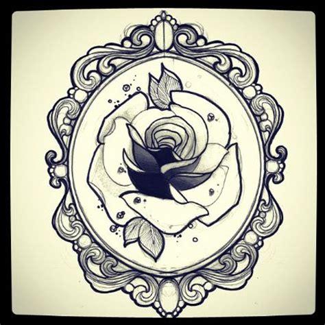 tattoo flower frame ornate frame tattoo custom pinterest am i am and
