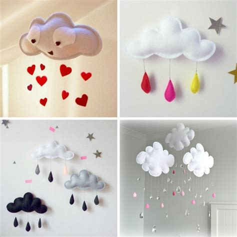 cloud baby room craft this cloud mobile for your baby nursery http www amazinginteriordesign craft cloud