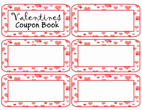 coupon book template valentines day coupon templates www picsbud