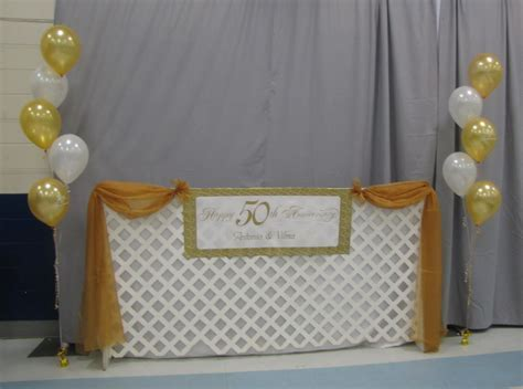 Church anniversary stage decoration, elegant wedding
