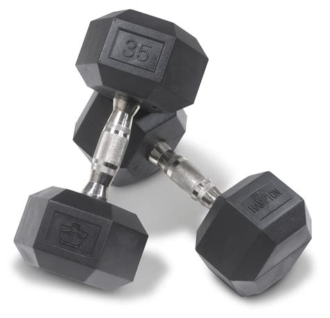 heavy duty commercial urethane coated hex dumbbells