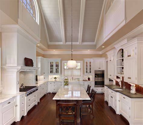 Kitchen With Vaulted Ceilings Ideas Dramatic Vaulted Ceiling In Kitchen Traditional Kitchen Charleston By Christopher A