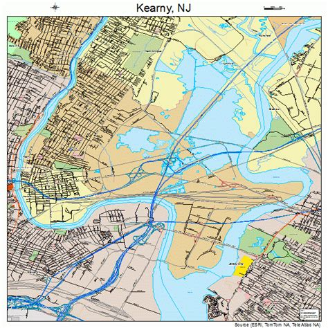 In Kearny Nj kearny new jersey map 3436510