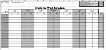 Employee Scheduling Template Free by Employee Work Schedule Template Microsoft Office Templates