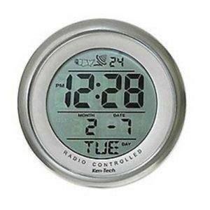 Atomic Bathroom Digital Alarm Clock Suction Cup Mount Time