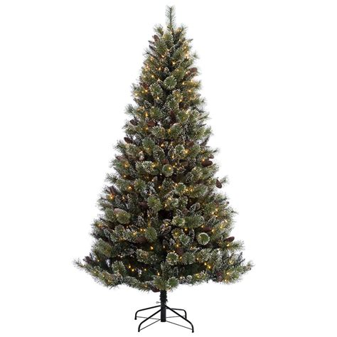 martha stewart living 9 ft pre lit glittery bristle pine garland martha stewart living 7 5 ft pre lit led sparkling pine set artificial tree