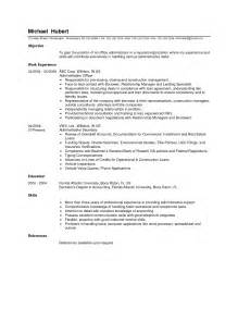 Office Administrator Cover Letter by Resume Office Administrator Resume Sles Executive