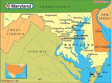 maryland map and surrounding states image gallery maryland landforms