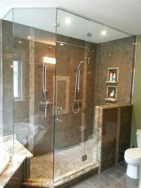 Custom Shower Doors Enclosures M T Glass Shower Door Enclosures Glass