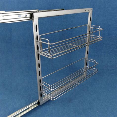 caravansplus 2 x slide out pantry 110mm plus 4 baskets