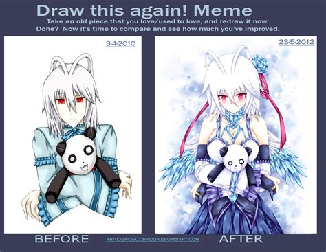 Draw This Again Meme Fail - draw this again meme 2010 vs 2012 by snowcorridor on