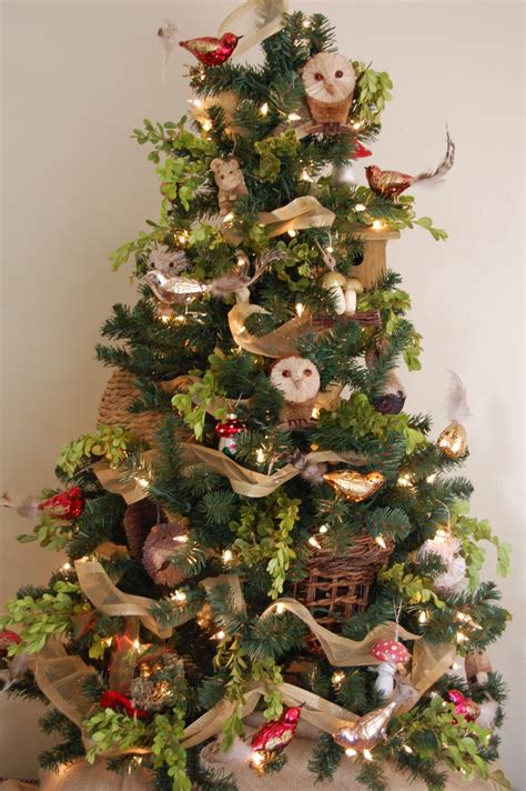 homespun woodland christmas tree and at leadora a woodland tree