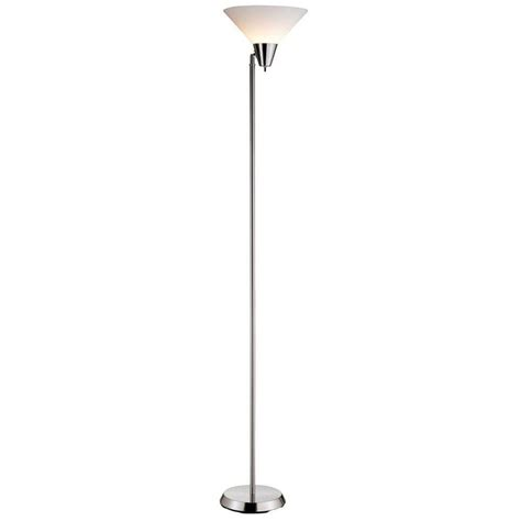 brushed steel stacked ball floor l with white shade silver chain floor l calyx cognac glass industrial