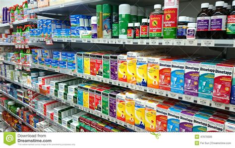 pharmacy shop interior editorial photo image 47679306