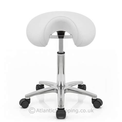 Office Stools On Wheels by Deluxe Saddle Faux Leather Office Stool With Wheels