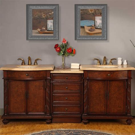 84 inch vanity silkroad exclusive 84 inch travertine vanity with