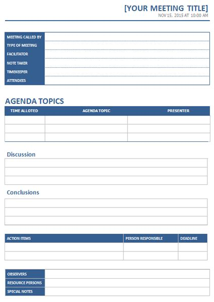 ms word meeting minutes template office templates