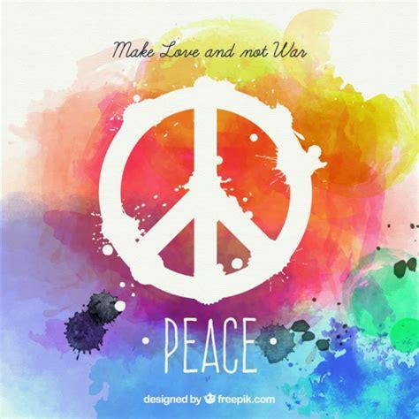 imagenes animadas de amor y paz tarjeta de paz de acuarela en estilo colorido descargar