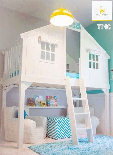 Ranjang Sorong Frozen jual tempat tidur anak tingkat putih terbaru jepara