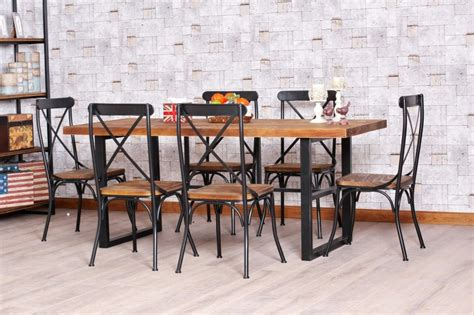 Industrial Style Homes wrought iron kitchen tables displaying attractive