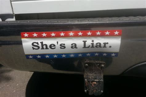Shes A Liar by Bumper Sticker Shes A Liar