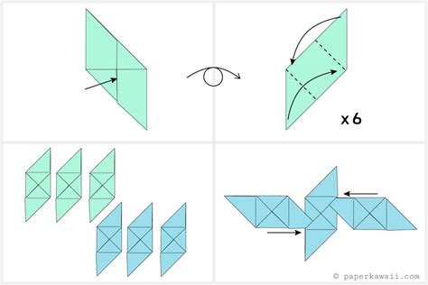 Origami Cube - free coloring pages how to make a modular origami cube