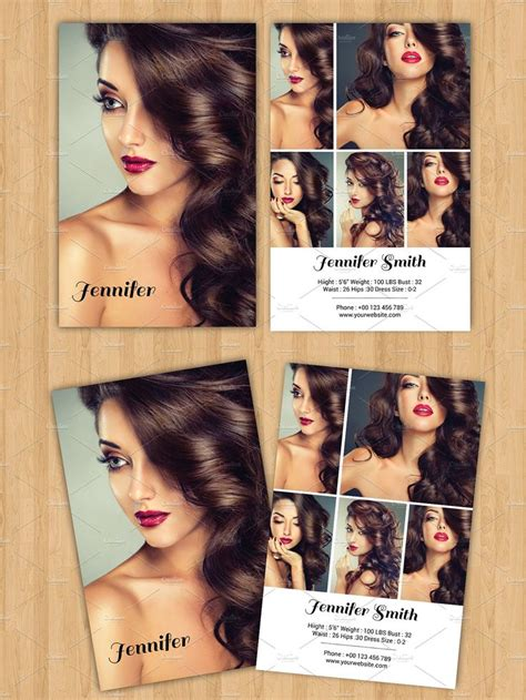 model comp card template psd best 25 model comp card ideas only on model
