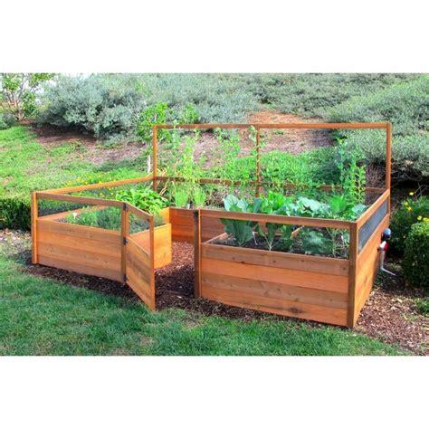 cedar complete raised garden bed kit    garden