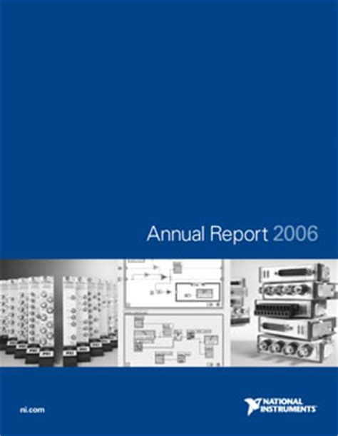2006 annual report national instruments
