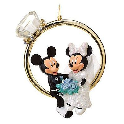 wedding ring minnie and mickey mouse ornament wonderful
