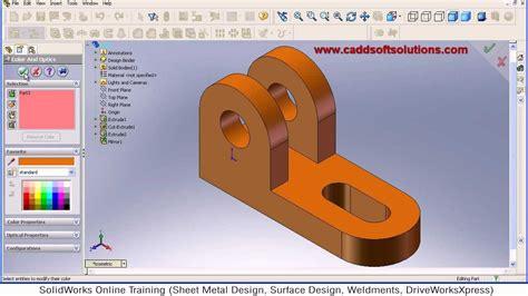 tutorial solidworks beginner solidworks basic part modeling design tutorial for
